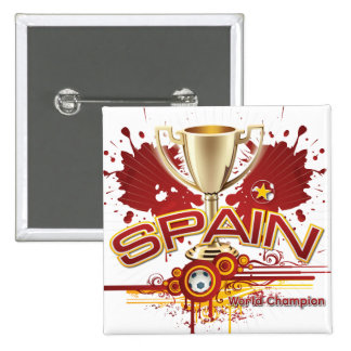 Spain World Champion 2010 forever 2 Inch Square Button