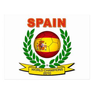 Spain World Champion 2010 Postcard