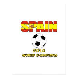 Spain World Champion t shirt World Cup 2010 Postcard