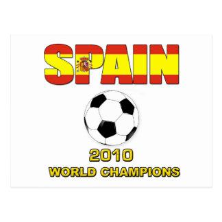 Spain World Champion t shirt World Cup 2010 Postcard