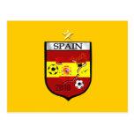 Spain World Champions 1 star badge emblem Postcards