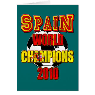 Spain World Champions 2010 Card