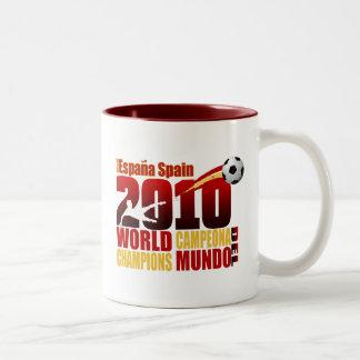 Spain World Champions 2010 España Campeona Del Mun Two-Tone Coffee Mug