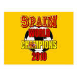 Spain World Champions 2010 Post Cards