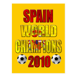 Spain World Champions 2010 Spanish flag gifts Postcard