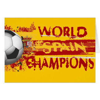 Spain World Champions Grunge 2010 Gift Greeting Card