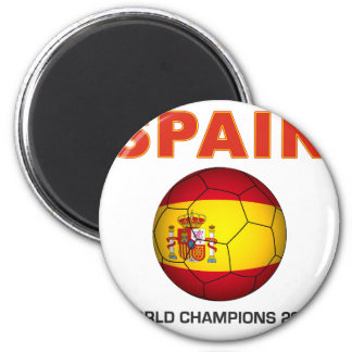 Spain World Cup 2010 Champion South Africa 2 Inch Round Magnet