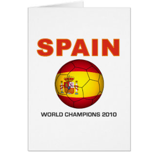 Spain World Cup 2010 Champion South Africa Greeting Card