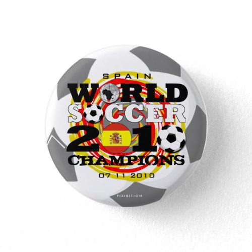 Spain World Cup 2010 Champions Button button