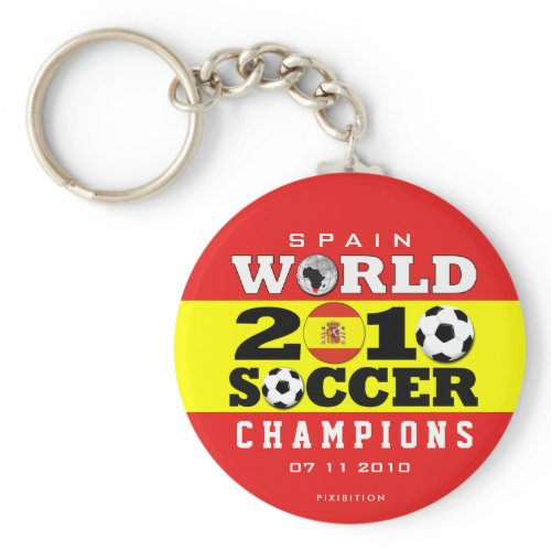 Spain World Cup 2010 Champions Keychain keychain