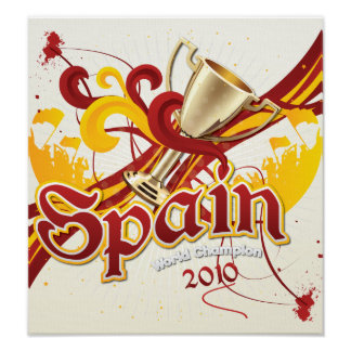Spain World Cup 2010 Poster