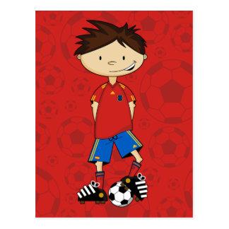 Spain World Cup Soccer Boy Postcard