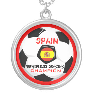 Spain World Cup Soccer Champion 2010 Necklace