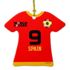 Spain World Cup Soccer Jersey Ornament ornament