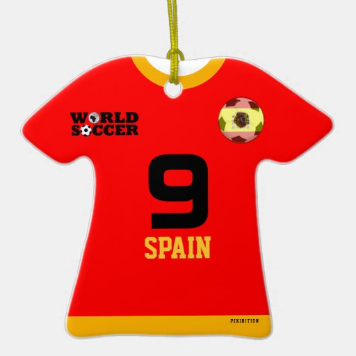 Spain World Cup Soccer Jersey Ornament