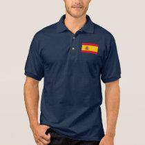 Spain World Flag Polo Shirt