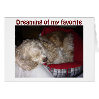 """SPAINIEL IS """"DREAMING OF FAV PERSON-""""YOU"""" CARD"""
