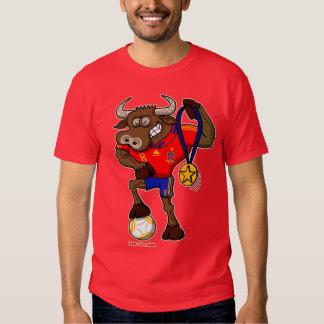 Spain's Football World Cup Champion Bull T-shirt