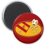 Spains New España fans 1 star Soccer logo 2 Inch Round Magnet