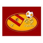 Spains New España fans 1 star Soccer logo Postcards