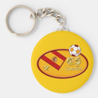 Spains nuevo España aviva el logotipo de una estre Llavero Redondo Tipo Pin
