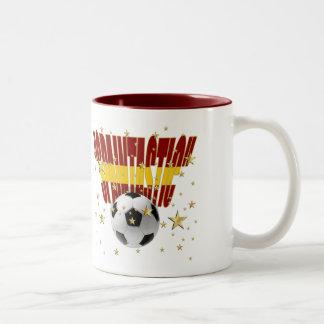 Spaintastic Spain Soccer 2010 World Champions Two-Tone Coffee Mug