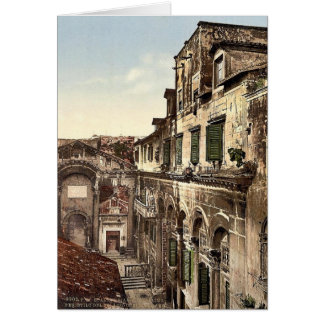 Spalato, Diocletian's Palace, the Peristyle, Dalma Greeting Cards