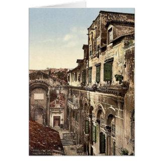 Spalato, el palacio de Diocletian, el Peristyle, D Tarjeta De Felicitación