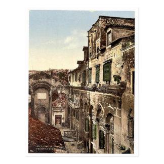 Spalato, el palacio de Diocletian, el Peristyle, D Tarjetas Postales