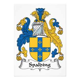 Spalding Family Crest Custom Announcements