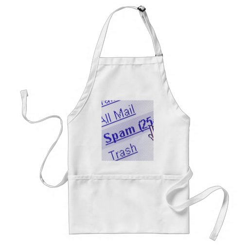 Spam in mailbox adult apron