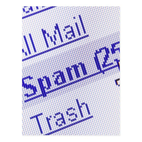 Spam in mailbox postcard