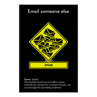 Spam Information Security Awareness Poster