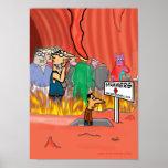 Spammer en el dibujo animado del infierno - divert poster