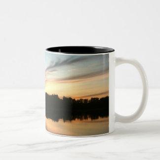 spamset mug: golden sunset Two-Tone coffee mug