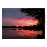spamset: puesta del sol rosada de septiembre felicitacion