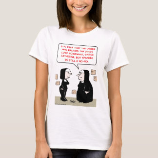 spandex nuns no-no dress code