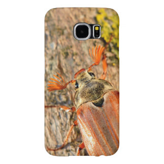 Spang Beetle On Mossy Bark Samsung Galaxy S6 Cases