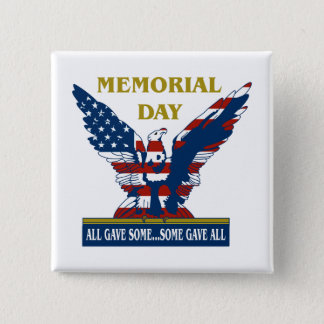 Spangled Eagle Memorial Day Buttons