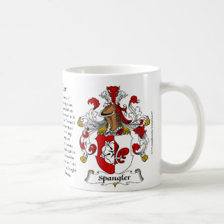 Spangler, the Origin, the Meaning and the Crest Coffee Mug
