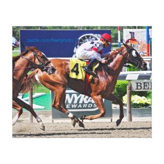 Spango winning at Belmont Park Canvas Print