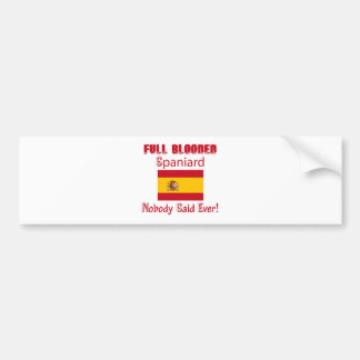 Spaniard  design bumper sticker