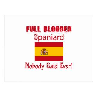 Spaniard  design postcard