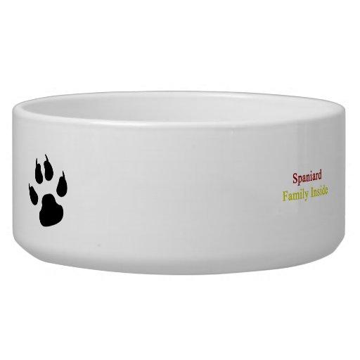 Spaniard Family Inside Pet Bowls
