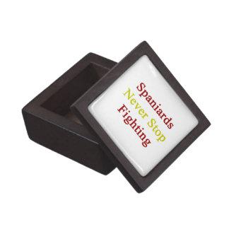 Spaniards Never Stop Fighting Premium Keepsake Box