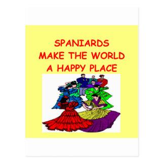 spaniards postcard