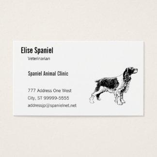 Spaniel Dog Line Art Business Card