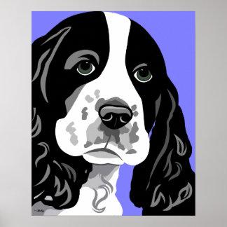 Spaniel Dog Print
