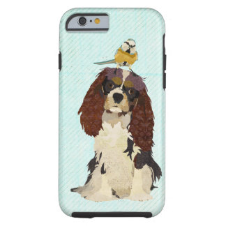 Spaniel & Little Bird Blue iPhone 6 case