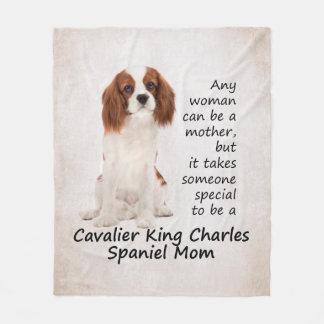 Spaniel Mom Fleece Blanket